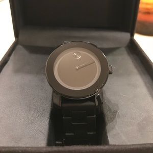 Unisex Black Movado Bold Watch